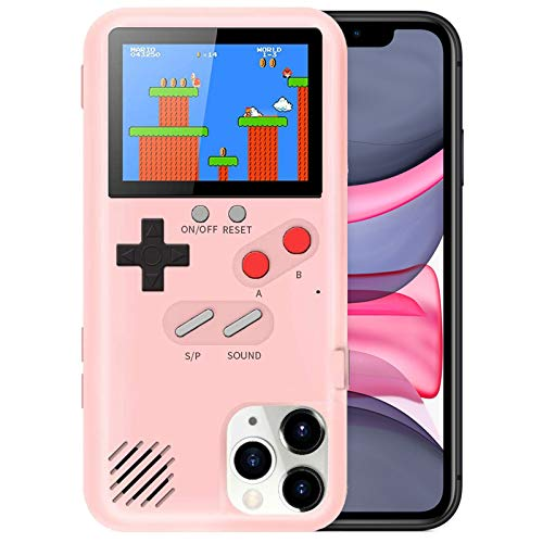 Playable Gameboy Case for iPhone XR, Retro 3D Shockproof Gameboy Cover Case with 36 Classic Games, Handheld Color Screen Video Game Console Case for iPhone