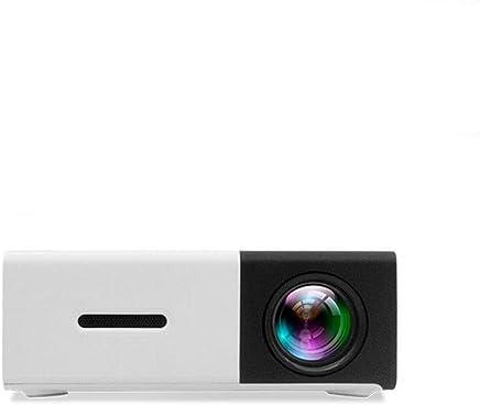 Mini Proyector ,400-600 Lumen Proyector LED de Video HD 1080P Admite HDMI, AV, USB Reproductor Multimedia ,el Interfaz Teléfono Inteligente / TV / Películas / Juegos / Exposiciones(Negro)