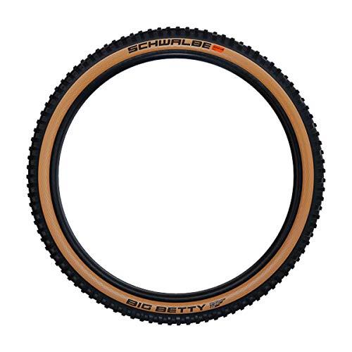 SCHWALBE Big Betty HS 608 Super Gravity TLE Addix Soft Folding Mountain Bicycle Tire - 27.5 x 2.40 - Classic-Skin - 11654149