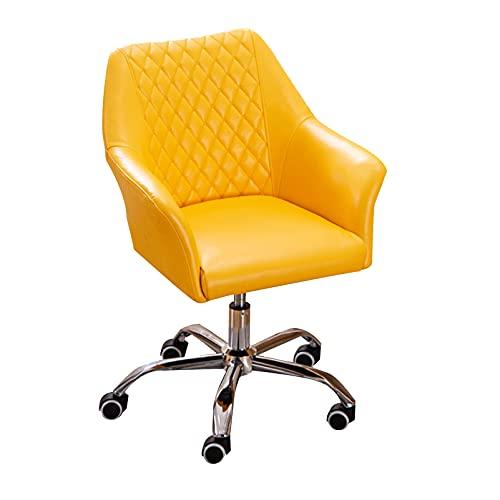 SACKDERTY Silla reclinable giratoria con Ruedas giratorias, sillón Lounge de Cuero, Silla de Oficina con Asiento Acolchado y Mullido Ajustable de 360 Grados