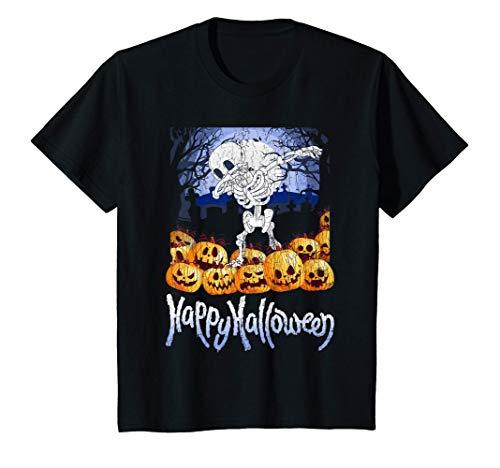 Niños Divertido disfraz de regalo del esqueleto de Halloween Camiseta