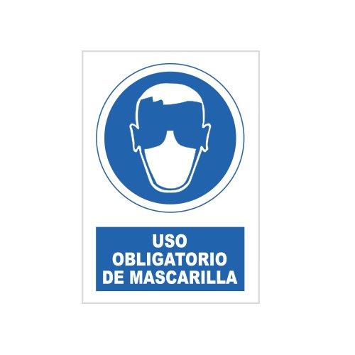 S21 Señalización SOR1078.G Señal uso obligatorio de mascarilla, Multicolor