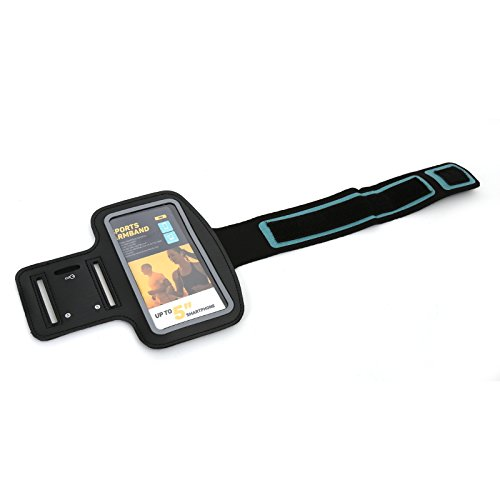 PLATINET Omega POSB 5' Brazalete Caso Negro Funda para teléfono móvil - Fundas para teléfonos móviles (Brazalete Caso, Universal, 12,7 cm (5'), Negro)