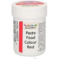 FunCakes FunColours Colorante Concentrado Alimenticio en Pasta para Hornear, Decorar, Glasear, Fondant, Crema, Color Rojo, 30g,