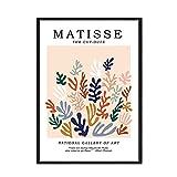 Vintage Henri Matisse Vintage carteles e impresiones líneas abstractas superficie arte de la pared imagen sin marco lienzo pintura A2 15x20cm
