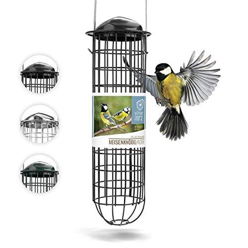 wildtier herz corazón Animal Salvaje I Portabolas para Colgar, comedero para pájaros I 31cm de Metal Inoxidable, Columna de alimentación para Aves Silvestres, Uso Durante Todo el año (31cm, Negro)