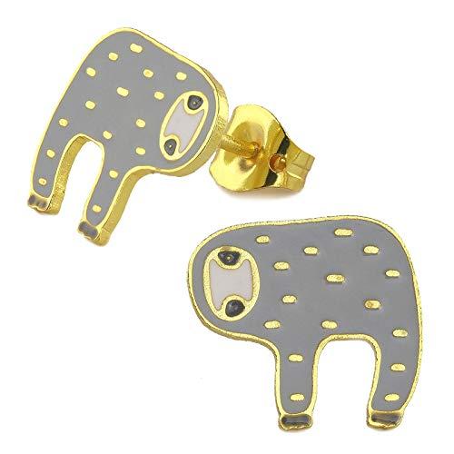 Monkimau Meisjes oorbellen luier oorstekers gemaakt van messing 18k goud geplateerd