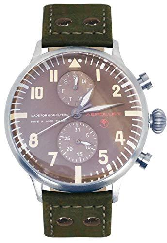 AEROLUFT - Reloj de Piloto Aviador Type 1 Eddie Rickenbacker