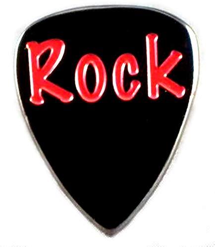 Broche en métal émaillé Motif Rock Music-Médiator de guitare/Pry outil