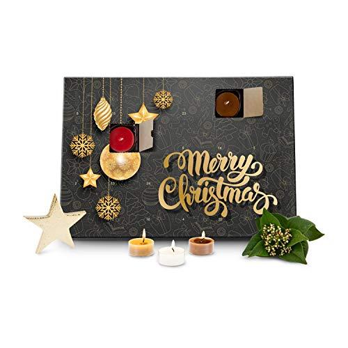 Römer Wellness Geschenkartikel: Duftkerzen Adventskalender Merry Christmas mit 24 verschiedenen Teelicht-Duftkerzen; Maße: ca. 36 x 25 x 2 cm