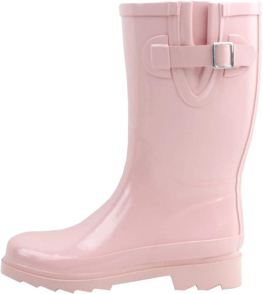 Women's Mid-Calf Rubber Rain Boots R903-6