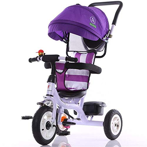 For Sale! Kids Tricycle 7-in-1 Baby Trike Tricycle With Push Handle/Wheel Clutch/Rotating And Reclin...