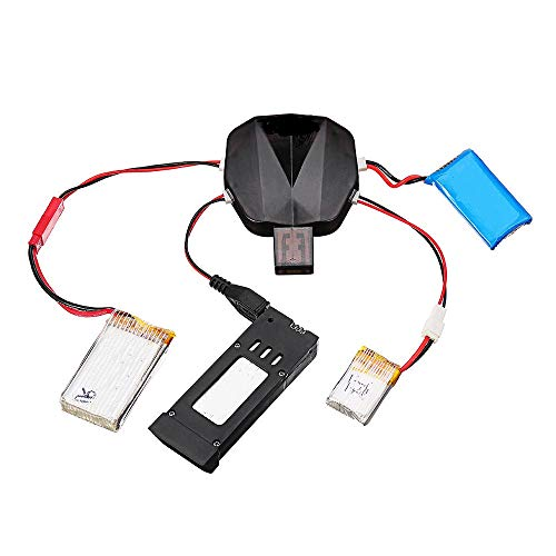 ART IFACT Lipo Battery USB Charger Cable Cord with Led Indicator for 3.7V - RC Quadcopter Drone - Syma X5 X5C H107L H107C RC DroTS