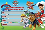 Happy Choice Invitation Cards - Paw Patrol Happy Birthday Fill-in 20 Envelopes-Light Weight 230 Gram Post Card Style Invites for Kids Party