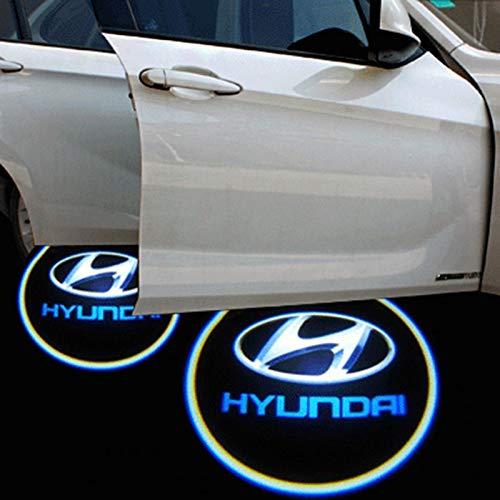 Xenon - Proyectores de Puerta Brillantes con Logo de Hyundai