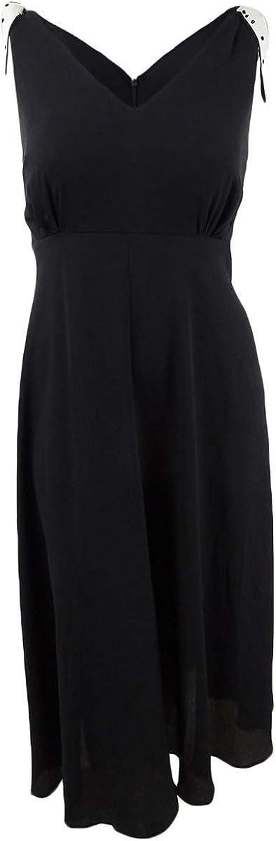 Betsey Johnson Women's Plus Size Midi Dress with Shoulder Ties