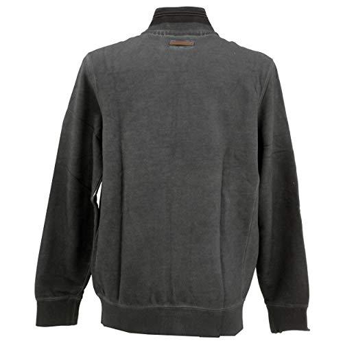 camel active Herren Stand UP Cardigan 1/1 Sweatshirt, Grau (Grey 35), Large