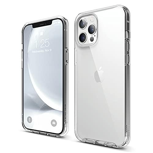 "elago Híbrida Transparente Funda Compatible con iPhone 12 Pro MAX Case (6.7""), Reverso de Anti-Amarilleo PC Duradero, Flexible Bumper Protectora (Trasparente)"