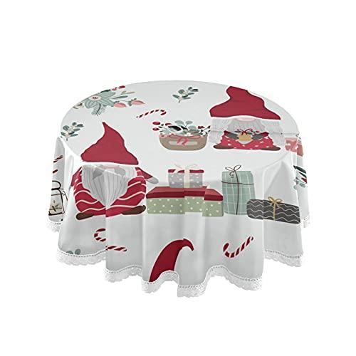 xigua Mantel redondo de Navidad de 60 pulgadas con agujero para paraguas...