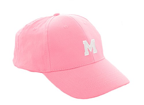 morefaz Unisex Jungen Mädchen Mütze Baseball Cap Rosa Hut Kinder Kappe A-Z Letter MFAZ Ltd (M)