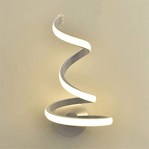 XHLLX Lámparas De Pared LED Aplique De Pared para Interior, Luz De Pared, Simple Y Elegante, Lámpara De Pared En Espiral, Lámpara De Noche Decorativa De Interior Contemporánea