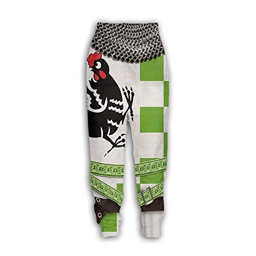 Surwin Jogger Pantalones Pants de Jogging para Hombre/Mujer, Impresos 3D Pantalones con Cordón Streetwear De Ropa Pantalones Deportivos Casuales para Unisex (Polla,4XL)
