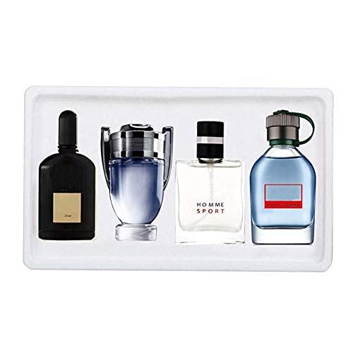 Set de Eau de Toilette para hombre, 25ml x 4PCS, portátil, para hombre, con fragancia, juego de perfume de colonia, perfume de larga duración, regalo para esposo, padre, novio