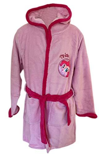 Bullahshah My Little Pony Rosa Bademantel Weiche Fleece Bademantel Kapuzen Robe für Mädchen (122-128 cm / 7-8 Jahre)