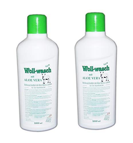 2x WOLL SHAMPOO 2x1L mit ALOE VERA LANOLIN Waschmittel Wollwaschmittel Reinigungsmittel Fellreinigung 8