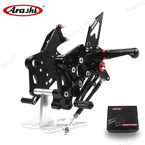 Arashi (Version 2.0) Rearsets for 390 2016-2017 RC 390 2014 2015-2018 Motorcycle Accessories Adjustable Footrests Foot Peg Rear Sets RC390 Black