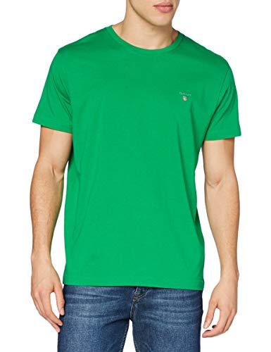 GANT Original SS T-Shirt Camiseta, Verde, XS para Hombre