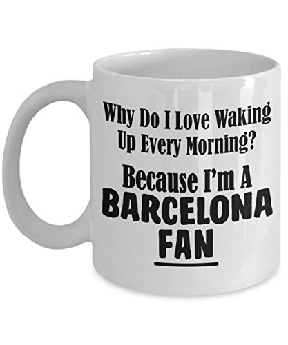 NA Tazza da Tifoso di Barcellona - Love Waking Up Every Morning - PRO Soccer City Team Sports Tazza da tè e caffè in Ceramica