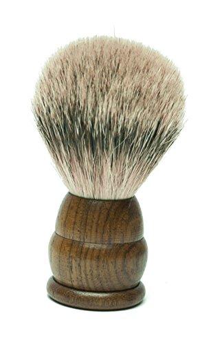 Golddachs Rasierpinsel, 100% Silberzupf, Zedernholz, braun