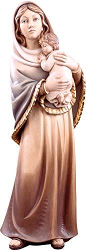 Imagen de la Virgen de Ferruzzi en Talla de Madera Pintada a Mano - Mide 85 cm - Demetz Deur