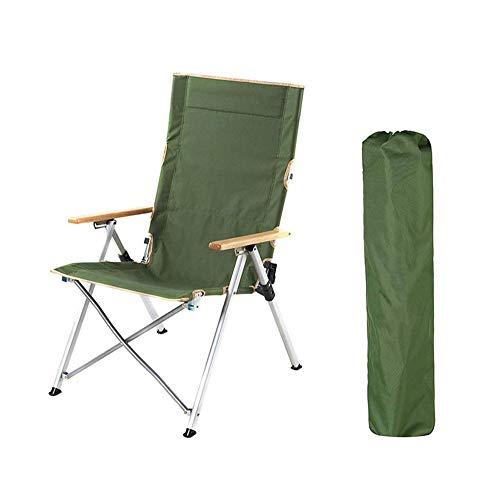 Silla Plegable Ligera Sillas de Ruedas Ajustables for Piscinas al Aire Libre, terrazas, Playas, Camping, hamacas (Color : Green)