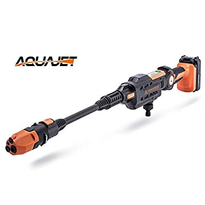 Yard Force 22Bar 20V Aquajet Cordless Pressure Cleaner with 2.5Ah Lithium-Ion Battery, Charger and Accessories LW C02 by Sumec