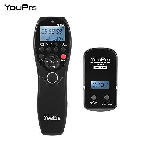 YouPro VT-2 ワイヤレス リモコン コマンダー LCD タイマー シャッター リリース ビデオ トランスミッタ レシーバ ソニー a7 a7R a7S a7 II a7S II a7R II a58 a6300 RX100 シリーズ ビデオ カメ