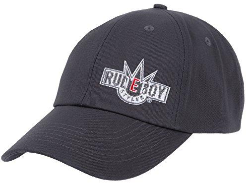 2Stoned Original Rudeboy Stylee Snapback Baseball Cap Anthrazit mit Stick-Logo für Herren und Jungen