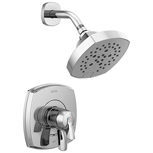 Stryke 17 Series Dual-Function Shower Faucet, Shower Trim Kit, Single-Spray H2Okinetic Shower Head, Chrome  (Valve Not Included) - Delta T17276