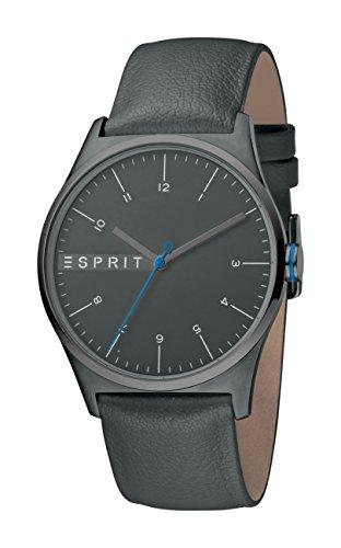 Esprit Herren Analog Quarz Uhr mit Leder Armband ES1G034L0045