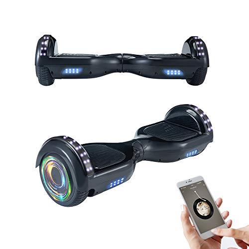Hoverboard Patinete eléctrico con autoequilibrio, Ruedas Intermitentes de 6.5