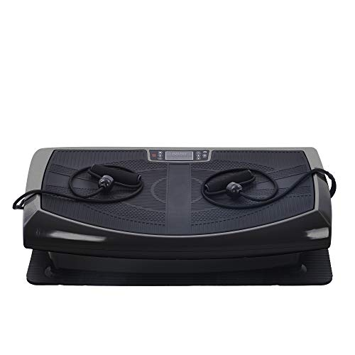 Merax 4D Vibrationsplatte, Leistungsstark mit 3 leisen Motoren,Vibration Plate im Curved Design mit Smart LED Technologie, Bluetooth-Lautsprecher