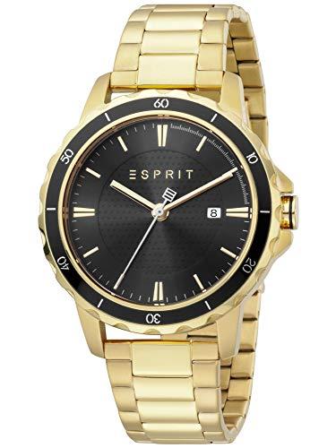 Esprit ES1G207M0075 Falco Gold Black Uhr Herrenuhr Edelstahl Datum Gold