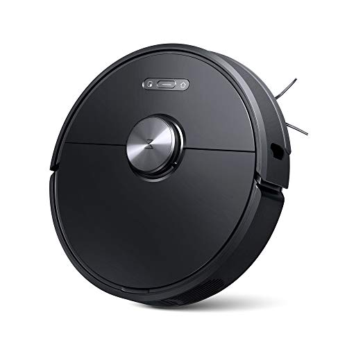 Roborock S6 Robot Vacuum, Robotic Vacuum Cleaner and Mop with Adaptive Routing,Multi-Floor Mapping, Selective Room Cleaning, Super Strong Suction, and Extra Long Battery Life, Works with Alexa(Black)