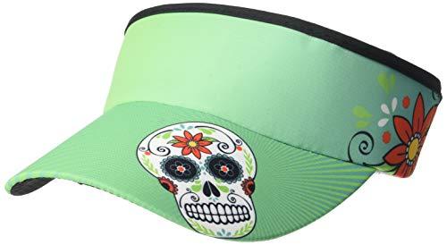 Headsweats 7703-401STSS Supervisor Sweat Band, Teal Skulls, One Size