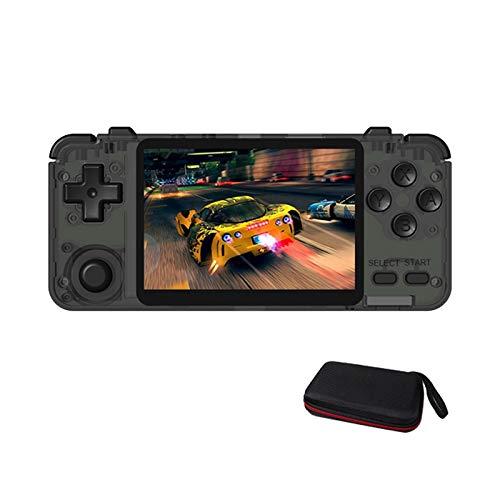 Tmand RK2020 Pantalla IPS de 3.5 Pulgadas PortáTil de Mano Consola de Juegos Retro Consola Soporte OperacióN de 360 Grados Juego Incorporado 64G