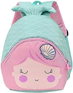 Mochila Infantil para Niños con Sirena Mochila para Niños De Niños y Niñas Sirena 3D Mochila Impermeable Bolsas De Viaje Regalos para Mochila Escolar Toddler Kids Pequeños Mochila (Azul)
