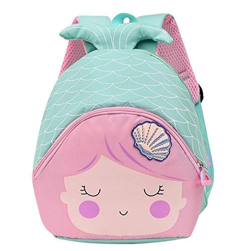 Cute Animal Cartoon Backpack School Bag Backpack with reins Mermaid Backpacks Baby Children's Backpack Kids 3D Mermaid Backpack for Kids Backpack Baby Gift Baby Luggage Back School Travel Waterproof