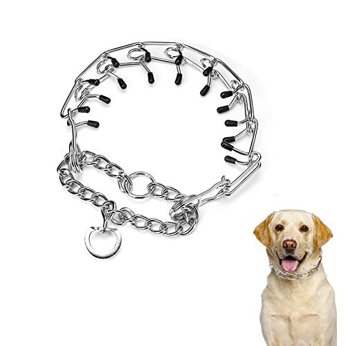 Heroicn Dog Collar Pinch Prong, Adjustable Stainless Steel Dog Choke Pinch...