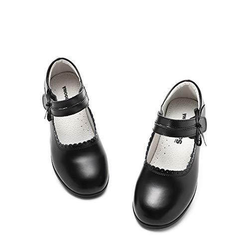 KaIyLn Mädchen Schwarze Lederschuhe Oxford Flat School Outdoor Schuh Mary Jane Schuhe für Schuluniform